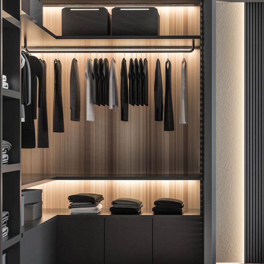 Installazione cabina armadio personalizzata - Arredamenti ...